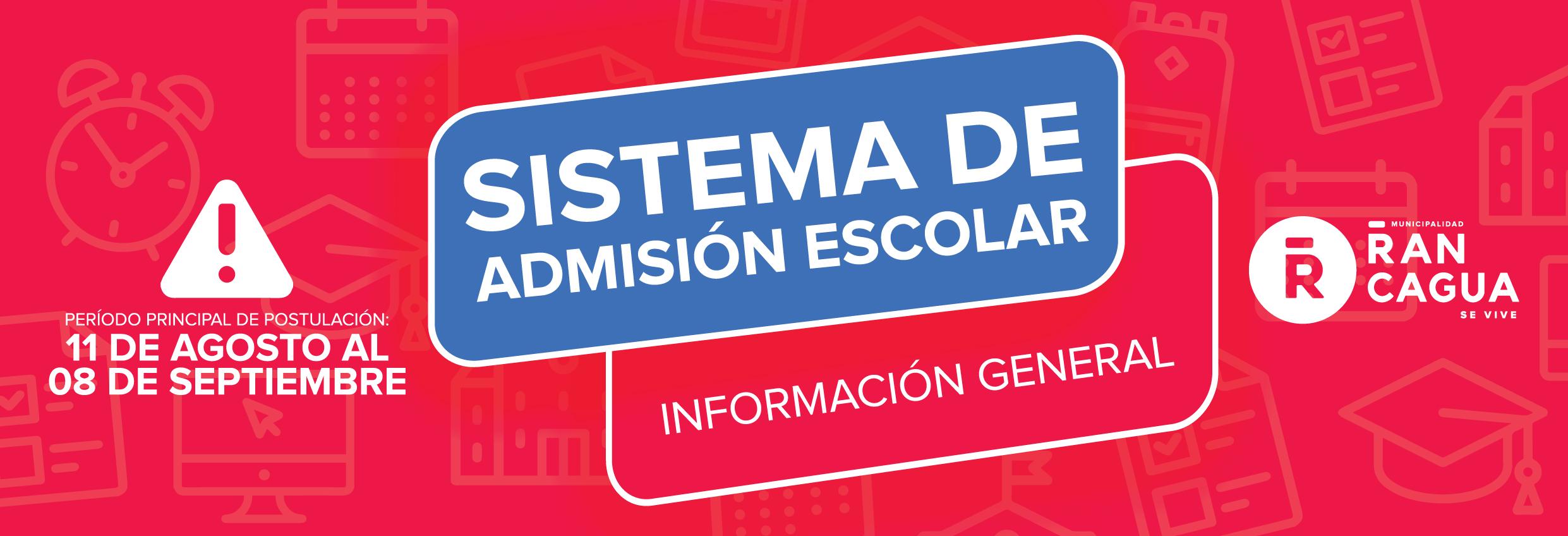 SISTEMA DE ADMISION ESCOLAR 2021